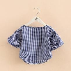 贝壳童装 - 童装格子短袖衬衫