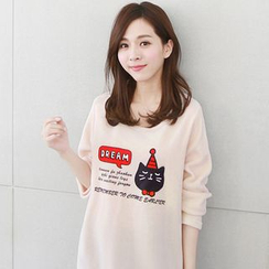 Grainie - 长袖猫猫印花裙衣