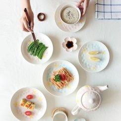 Kawa Simaya - Floral Ceramic Plate / Cup / Set