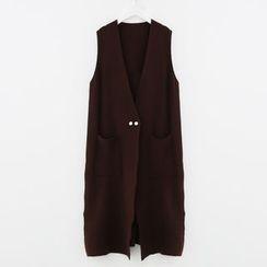Meimei - 長款針織馬甲