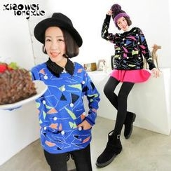 Xiaowei - Patterned Pompom Sweater