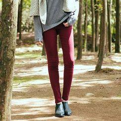 CatWorld - Elastic-Waist Skinny Pants