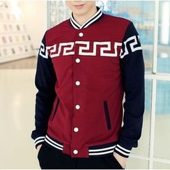 Bay Go Mall - Printed Baseball Jacket