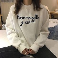 Bloombloom - Lettering Oversized Sweatshirt
