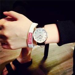Bingle - Faux Leather Strap Watch