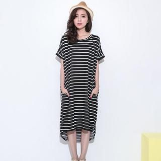 Lucky Leaf - Striped T-Shirt Dress