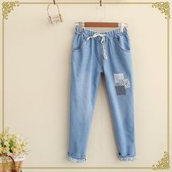 Fairyland - Drawcord  Patchwork Jeans