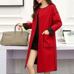 Cobogarden - Woolen Paneled Coat