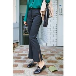 PPGIRL - Slit-Side Dress Pants