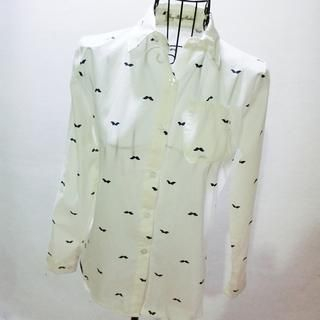 QZ Lady - Long-Sleeve Mustache-Print Shirt