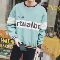 JVI - Lettering Color Block Sweatshirt