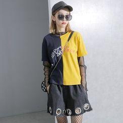 Sonne - Color-Block Lettering T-Shirt