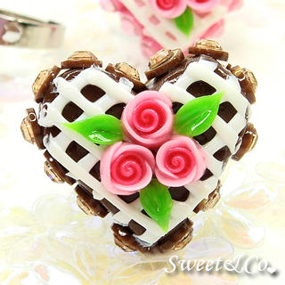 Sweet & Co. - Mini Chocolate Cake Swarovski Crystal Cake Ring