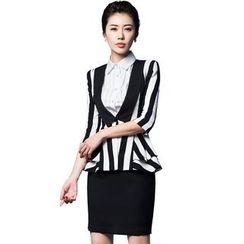 艾尚臣 - 條紋西裝 / 短裙