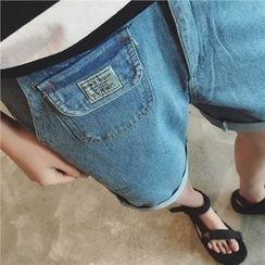 JUN.LEE - Pocketed Denim Shorts