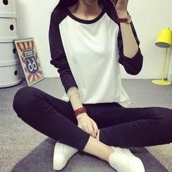 Cloud Nine - 插色长袖T恤