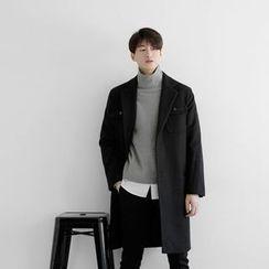 Seoul Homme - Single-Breasted Long Coat