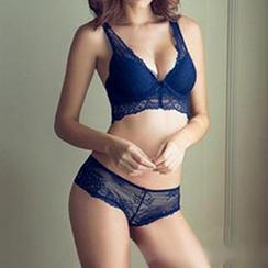 Melanie - Set: Lace Trim Bra + Panties