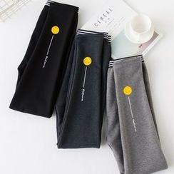 YAYAGREEN - Fleece-Lined Printed Leggings