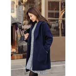 J-ANN - One-Button Dual-Pocket Coat