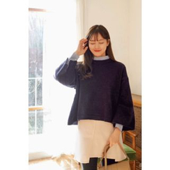 CHERRYKOKO - Beribboned Two-Way Knit Top