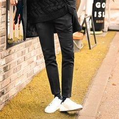MEOSIDDA - Brushed-Fleece Lined Slim-Fit Pants