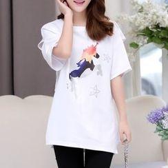 Cobogarden - 独角兽印花圆领T恤