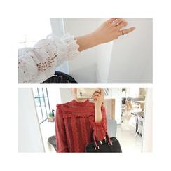 LEELIN - Frilled Lace Blouse
