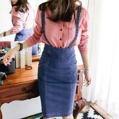 Isadora - Denim Jumper Skirt
