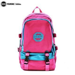 Fourone - Contrast-Trim Canvas Backpack
