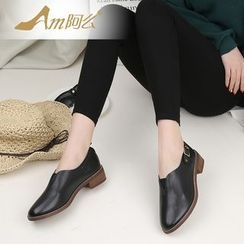 Amenx - Faux Leather Slip Ons