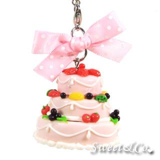 Sweet & Co. - Sweet 3layer Strawberry Fruit Cake Mini Pearl Necklace
