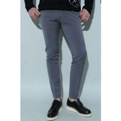Ohkkage - Flat-Front Dress Pants