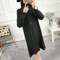 anzoveve - High Neck Knit Dress