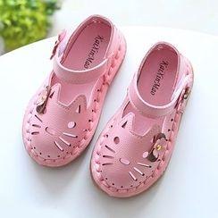 绿豆蛙童鞋 - 童装动物踝带鞋