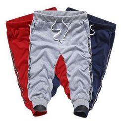 Y!SHIER - Drawstring Paneled Cropped Pants