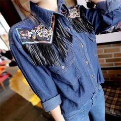 Sienne - Embroidered Denim Shirt