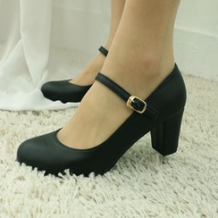 Dodostyle - Chunky-Heel Mary-Jane Pumps