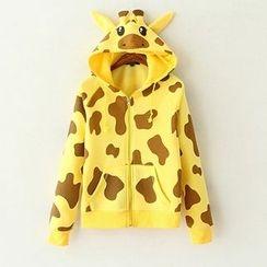 ninna nanna - 長頸鹿印花連帽夾克
