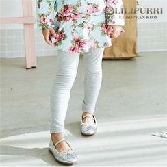 LILIPURRI - Girls Inset Rosette Skirt Leggings
