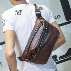 Yiku - Studded Sling Backpack