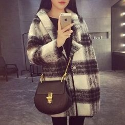 EFO - Loose-Fit Plaid Coat