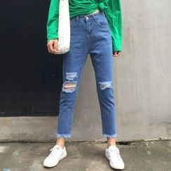 EEKO - Cropped Straight Fit Jeans