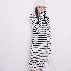 Everies - Long-Sleeve Striped Knit Dress