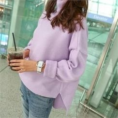 PINKSISLY - Turtle-Neck Colored Sweater