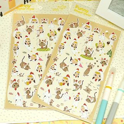 Full House - Girl & Cat Pattern Stickers