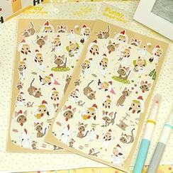 Full House - 女孩与猫咪纸质贴纸