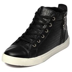 yeswalker - Embossed Side-Zip Sneakers