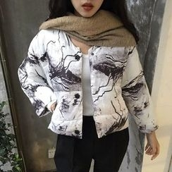 Whitney's Shop - Printed Cropped Padded Jacket