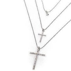REDOPIN - Cross Pendant Layered Necklace